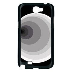 Gray abstraction Samsung Galaxy Note 2 Case (Black)