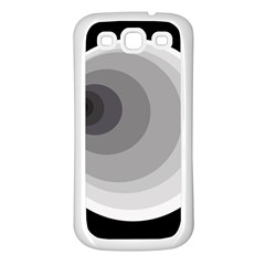 Gray abstraction Samsung Galaxy S3 Back Case (White)