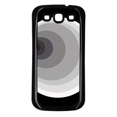 Gray abstraction Samsung Galaxy S3 Back Case (Black)