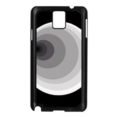 Gray abstraction Samsung Galaxy Note 3 N9005 Case (Black)