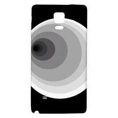 Gray abstraction Galaxy Note 4 Back Case