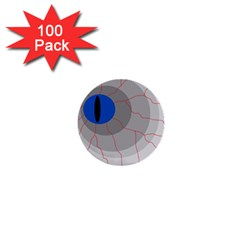 Blue eye 1  Mini Buttons (100 pack)