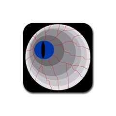 Blue eye Rubber Square Coaster (4 pack)