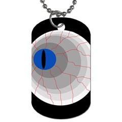 Blue eye Dog Tag (One Side)