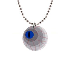 Blue eye Button Necklaces
