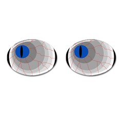 Blue eye Cufflinks (Oval)