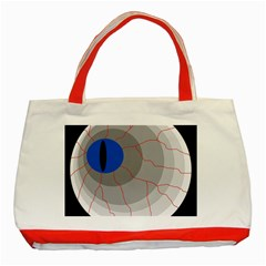 Blue eye Classic Tote Bag (Red)