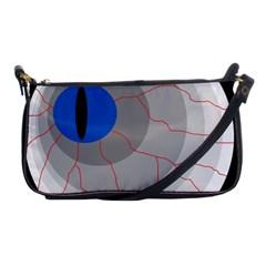 Blue eye Shoulder Clutch Bags