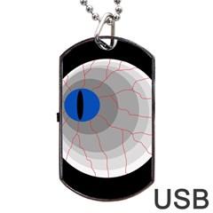 Blue eye Dog Tag USB Flash (One Side)
