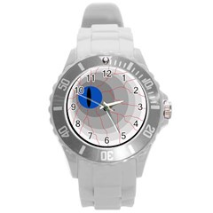 Blue eye Round Plastic Sport Watch (L)
