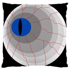 Blue eye Large Cushion Case (One Side)