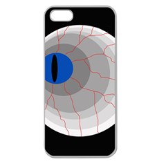 Blue eye Apple Seamless iPhone 5 Case (Clear)