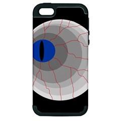 Blue eye Apple iPhone 5 Hardshell Case (PC+Silicone)