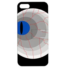 Blue eye Apple iPhone 5 Hardshell Case with Stand