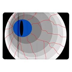 Blue eye Samsung Galaxy Tab 10.1  P7500 Flip Case