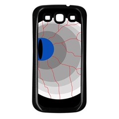 Blue eye Samsung Galaxy S3 Back Case (Black)