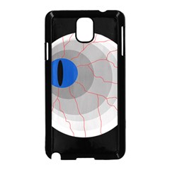 Blue eye Samsung Galaxy Note 3 Neo Hardshell Case (Black)