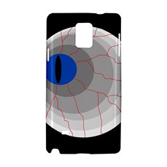 Blue eye Samsung Galaxy Note 4 Hardshell Case