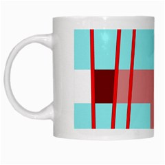 Abstract landscape White Mugs
