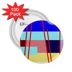 Abstract landscape 2.25  Buttons (100 pack)