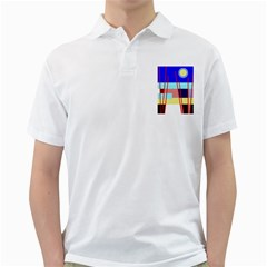 Abstract landscape Golf Shirts