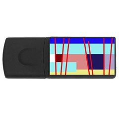 Abstract landscape USB Flash Drive Rectangular (1 GB)