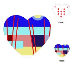 Abstract landscape Playing Cards (Heart)