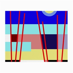 Abstract landscape Small Glasses Cloth (2-Side)