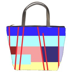 Abstract landscape Bucket Bags