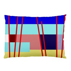 Abstract landscape Pillow Case