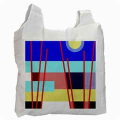 Abstract landscape Recycle Bag (Two Side)