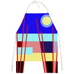 Abstract landscape Full Print Aprons