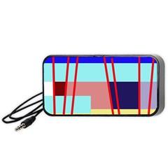 Abstract landscape Portable Speaker (Black)