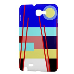 Abstract landscape Samsung Galaxy Note 1 Hardshell Case