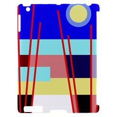 Abstract landscape Apple iPad 2 Hardshell Case (Compatible with Smart Cover)