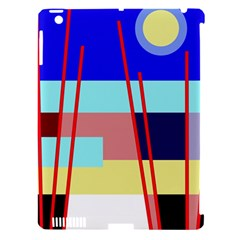 Abstract landscape Apple iPad 3/4 Hardshell Case (Compatible with Smart Cover)