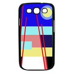 Abstract landscape Samsung Galaxy S III Case (Black)
