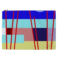 Abstract landscape Cosmetic Bag (XXL)
