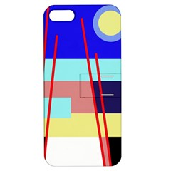Abstract landscape Apple iPhone 5 Hardshell Case with Stand