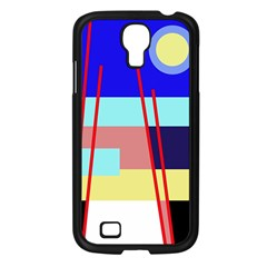 Abstract landscape Samsung Galaxy S4 I9500/ I9505 Case (Black)