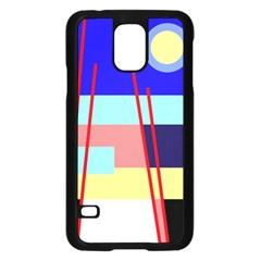 Abstract landscape Samsung Galaxy S5 Case (Black)