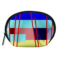 Abstract landscape Accessory Pouches (Medium)