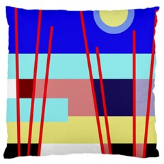 Abstract landscape Standard Flano Cushion Case (Two Sides)