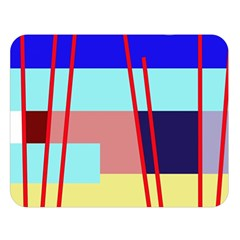 Abstract landscape Double Sided Flano Blanket (Large)