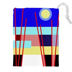Abstract landscape Drawstring Pouches (XXL)