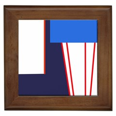 Decorative abstraction Framed Tiles