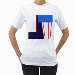 Decorative abstraction Women s T-Shirt (White) (Two Sided)