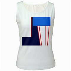 Decorative abstraction Women s White Tank Top