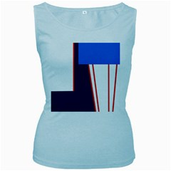 Decorative abstraction Women s Baby Blue Tank Top