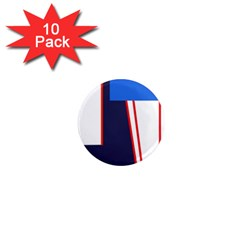 Decorative abstraction 1  Mini Magnet (10 pack)